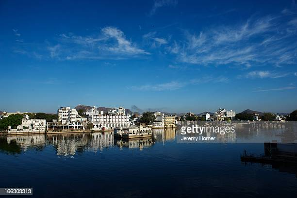 Early morning overlooking Lake Pichola is a serene experience