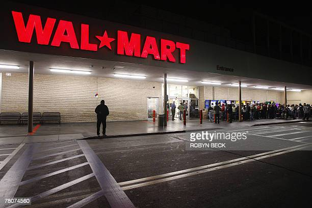 00am opening of a WalMart store in Panorama City California 23 November 2007 The day after Thanksgiving known as 'Black Friday' marks the start of...