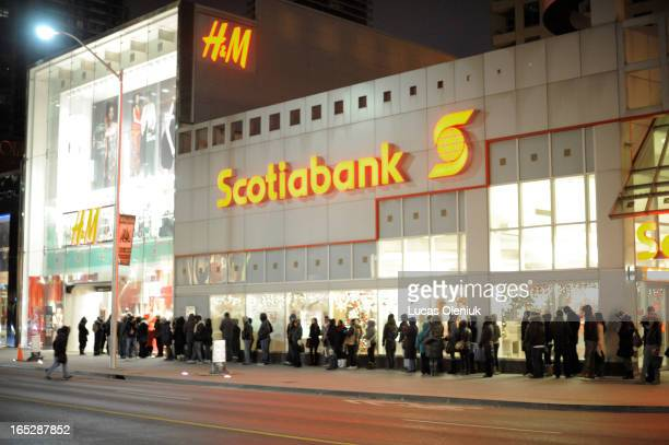 Early morning shoppers lined up in front of the HM store on Bloor Street in anticipation of its 7am Boxing Day opening