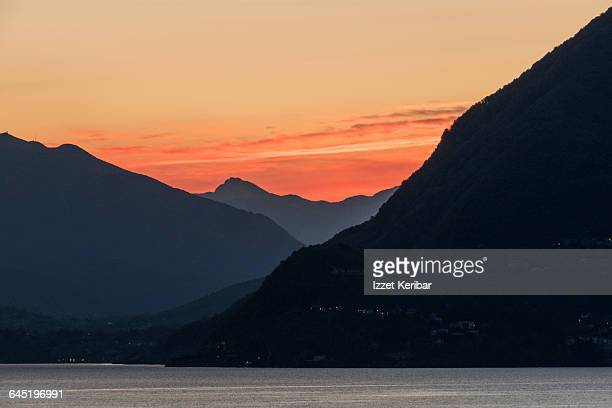 Early morning shot of Lago Maggiore sunrise