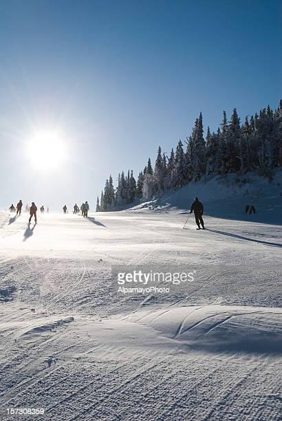 Early morning ski - I