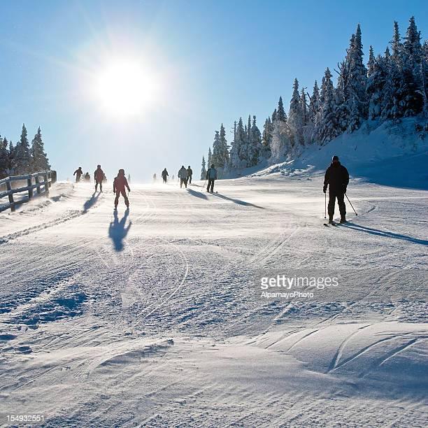 Early morning ski - II
