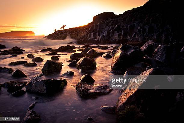 early morning surf - captain cook stock pictures, royalty-free photos & images