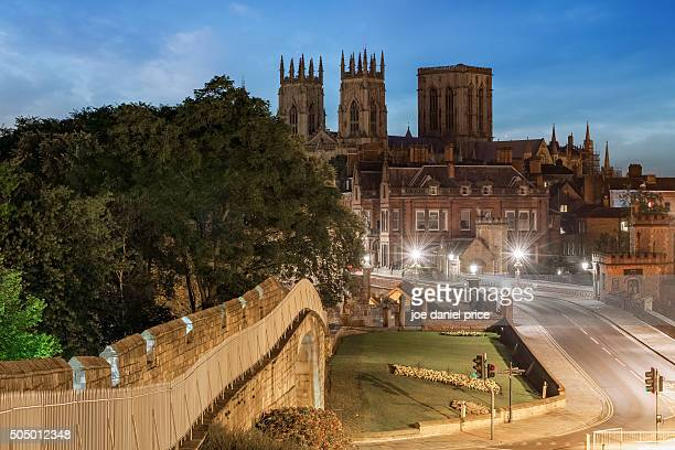 early morning, york minster, york, england - york yorkshire stock pictures, royalty-free photos & images