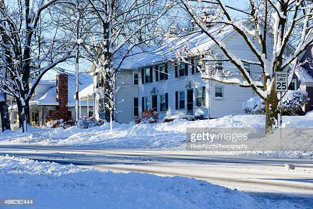 Early Rochester Michigan Winter Snowfall in 2015