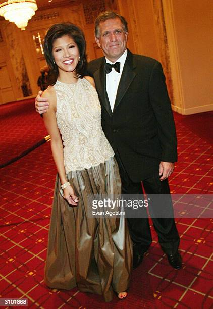 CBS Early Show host Julie Chen and CBS President CEO Leslie Moonves attend the International Radio And Television Society Foundation's 2004 Gold...