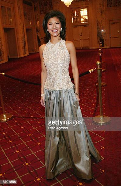 CBS Early Show host Julie Chen attends the International Radio And Television Society Foundation's 2004 Gold Medal Dinner honoring the broadcast...