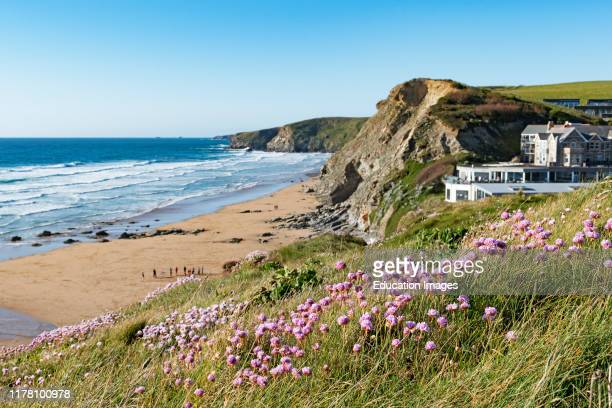 early summer evening watergate bay Cornwall England Britain uk