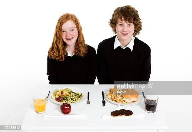 Principios teen estudiantes: Escuela la cena