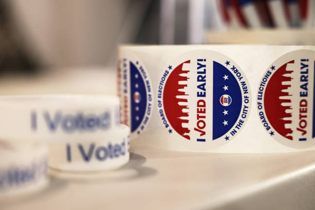 NY: New Yorkers Vote During Early Voting Period For City's Mayoral Primary
