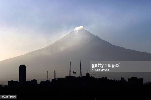 early winter sunset on the skyline of puebla city - mexico - earth angel stock pictures, royalty-free photos & images
