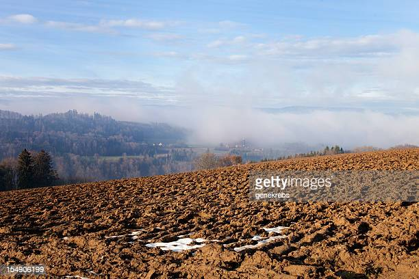 early winter view, jura mountains, dramatic sky, switerland - vaud canton stock pictures, royalty-free photos & images