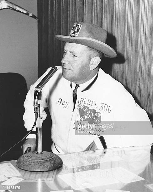 Early-1960s: Ray Melton was the man behind the microphone announcing NASCAR races at Darlington Raceway for many years.