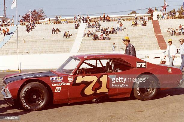 Gene Glover's NASCAR Late Model Sportsman car sits in the pit area at Martinsville Speedway before a race in the early1980s