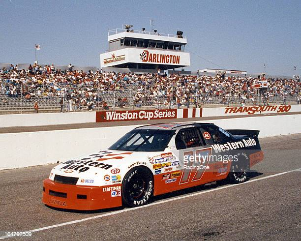 The Western Auto Chevrolet Lumina of Darrell Waltrip sits on pit road before the running of the TranSouth 500 NASCAR Cup race at Darlington Raceway...