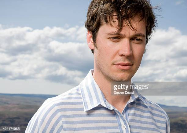 Earnest Green of Washed Out poses for a portrait backstage on day 2 of Sasquatch Music Festival at the Gorge Amphitheater on May 24 2014 in George...
