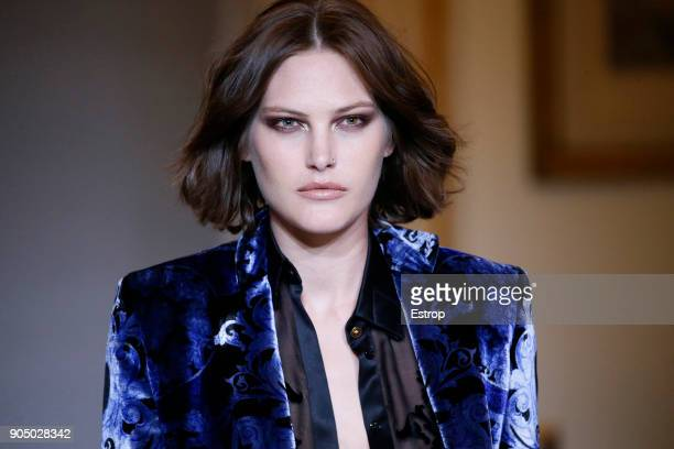 Earring detail at the Versace show during Milan Men's Fashion Week Fall/Winter 2018/19 on January 13 2018 in Milan Italy