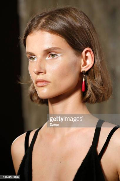 Earring detail during the Valentino Haute Couture Fall/Winter 20172018 show as part of Haute Couture Paris Fashion Week on July 5 2017 in Paris France
