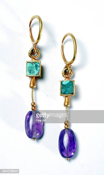 Earrings from a tomb in the Roman city of Thuburbo Majus in Tunisia 5th century Bardo Museum Tunis
