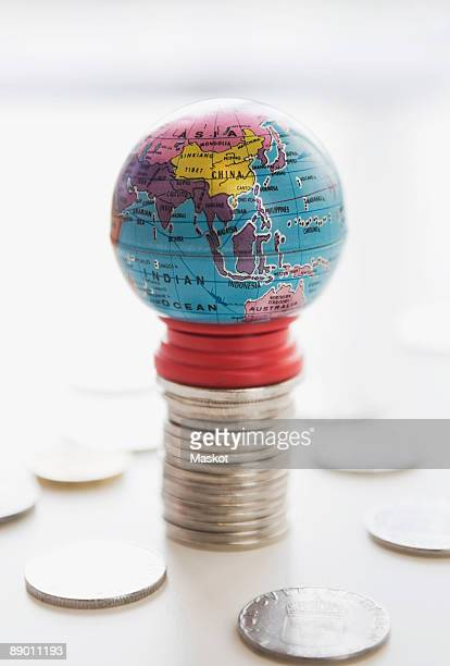 Earth and coins