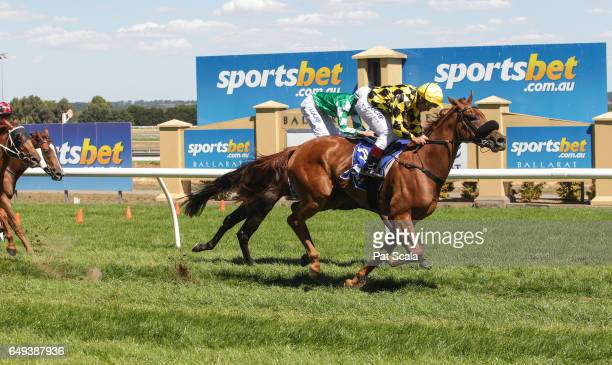 Earth Angel ridden by Damien Oliver wins the City of Ballarat 2YO Fillies Maiden Plate at SportsbetBallarat Racecourse on March 07 2017 in Ballarat...