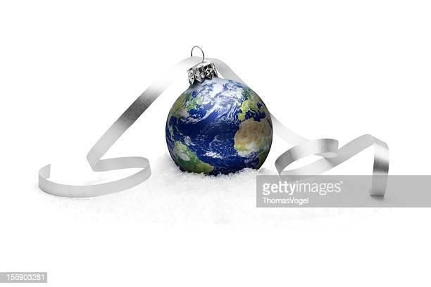 Earth christmas decoration