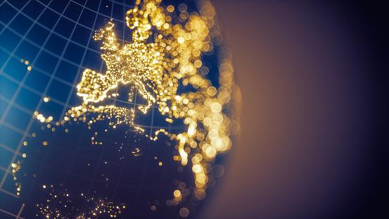 Earth City Lights Bokeh - Europe 1002859304