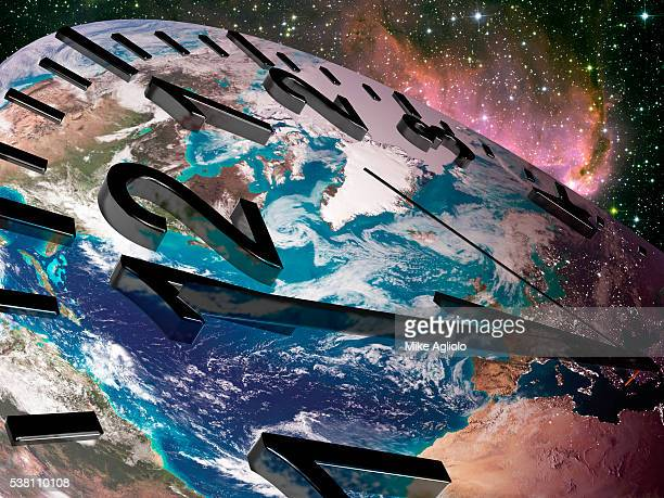 earth clock - mike agliolo stock photos and pictures