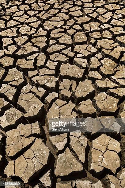 Earth, Cracked, Dried, Xuan Huong Lake