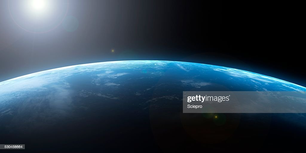 Earth from space, artwork : Stock Photo