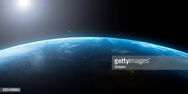 earth from space, artwork - horizon stock pictures, royalty-free photos & images