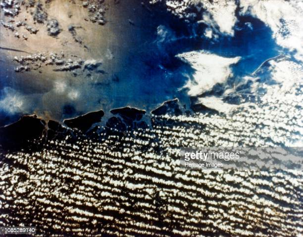 Earth from space - east coast of the USA, c1980s. Cloud cover and Atlantic coastline. Artist NASA.