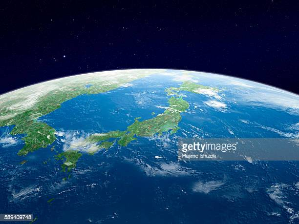 Earth from space, Japan