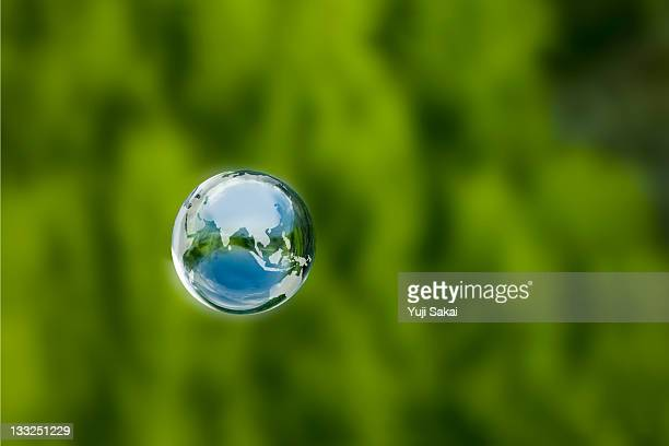 earth globe in the air