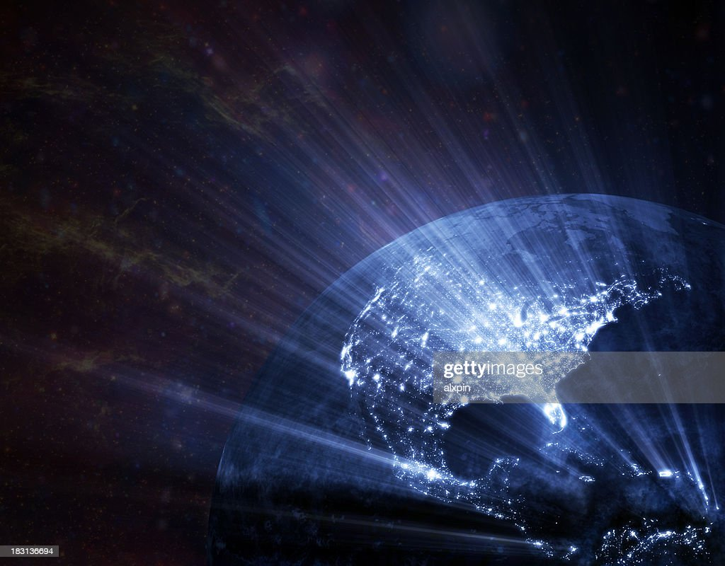 Earth  glowing : Stock Photo