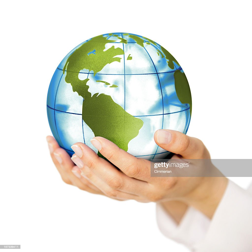 Earth in hands : Stock Photo