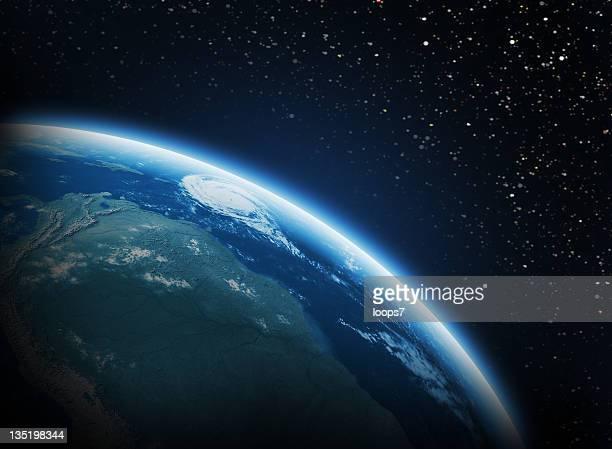 earth in space - satellite view stock pictures, royalty-free photos & images