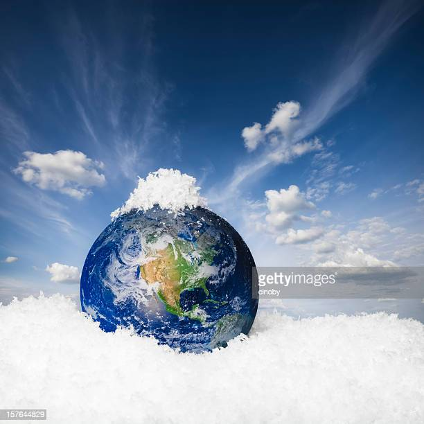 Earth in the snow