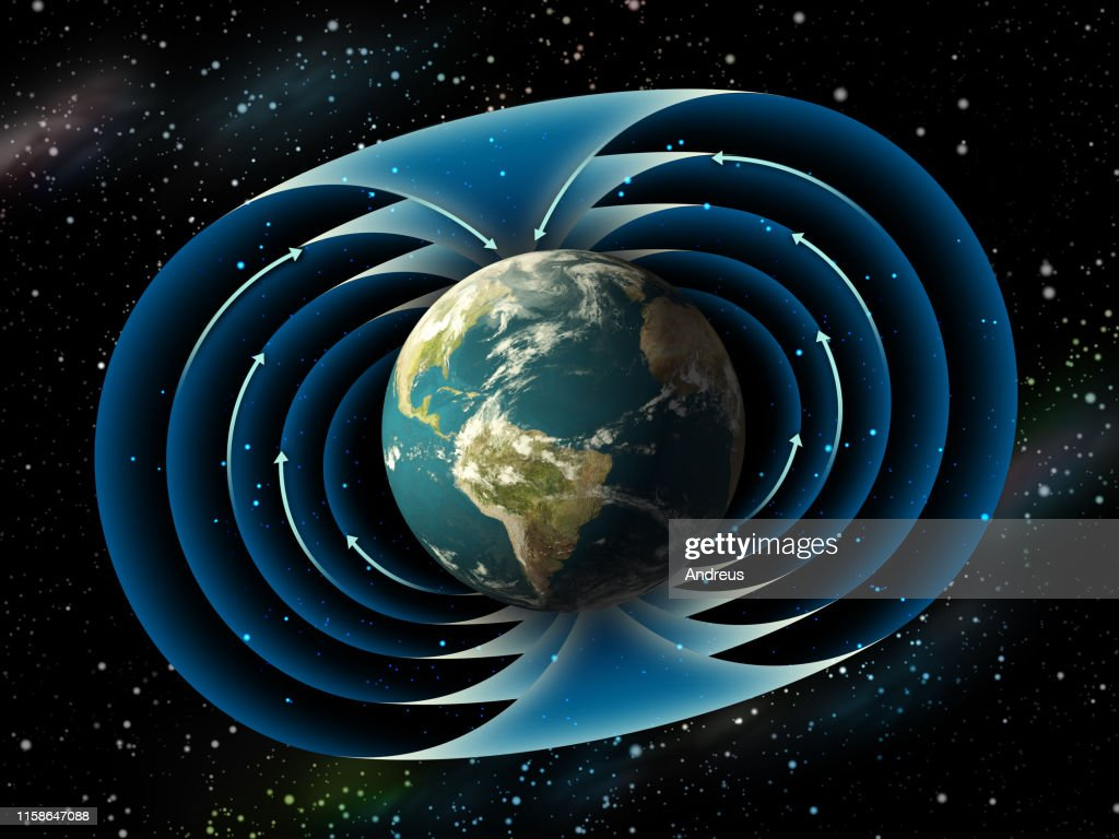Earth magnetic field : Stock Photo