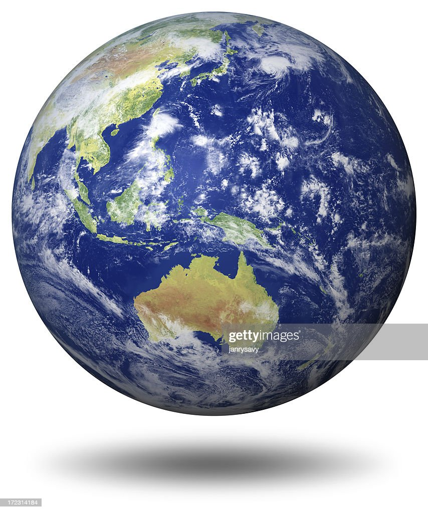 Earth Model: Australia View : Stock Photo