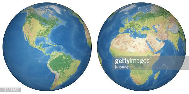 earth model - hemisphere stock pictures, royalty-free photos & images