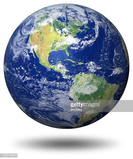 earth model: usa view - planet earth stock pictures, royalty-free photos & images