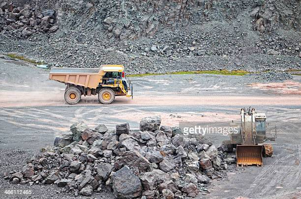 earth mover and dumper truck surface mine