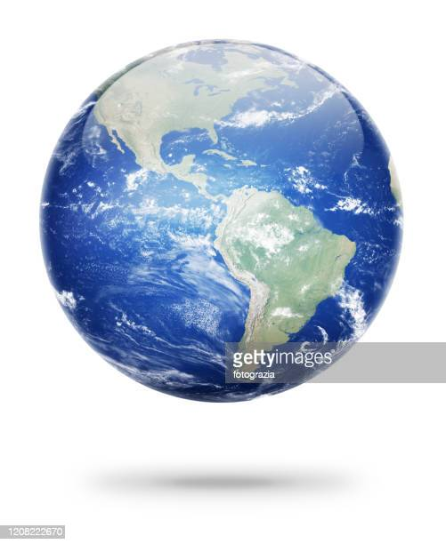 earth planet showing south america continent - south stock pictures, royalty-free photos & images