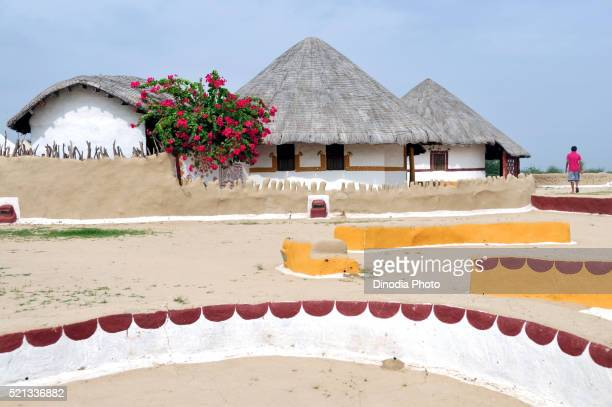 Earth quake resistance houses called bunga in hodka-banni, Bhuj, Kutch, Gujarat, India