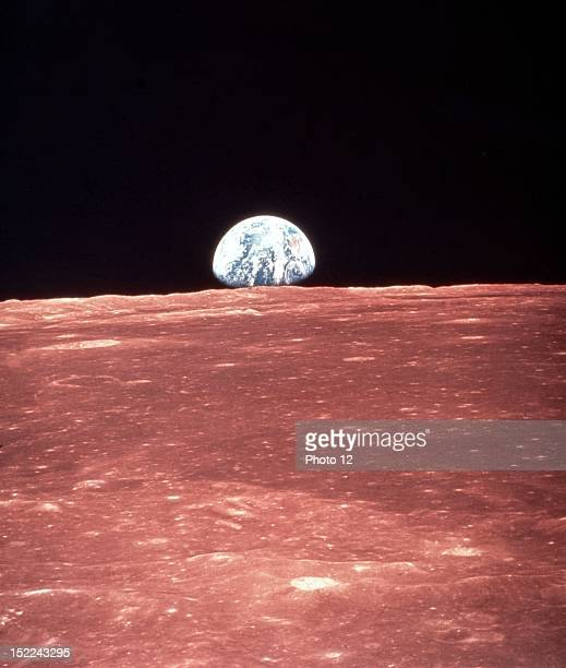 Earth rising by Apollo 8 in Moon orbit