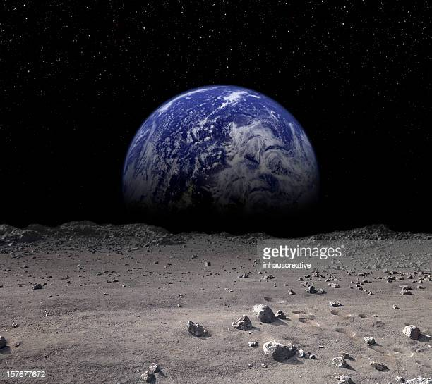 earth rising - moon stock pictures, royalty-free photos & images