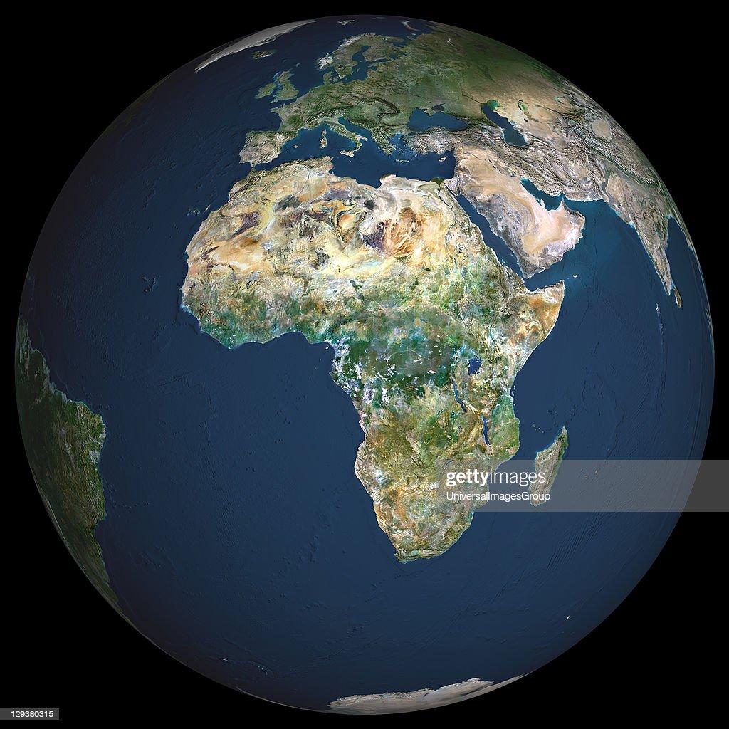 Globe Africa, True Colour Satellite Image : News Photo