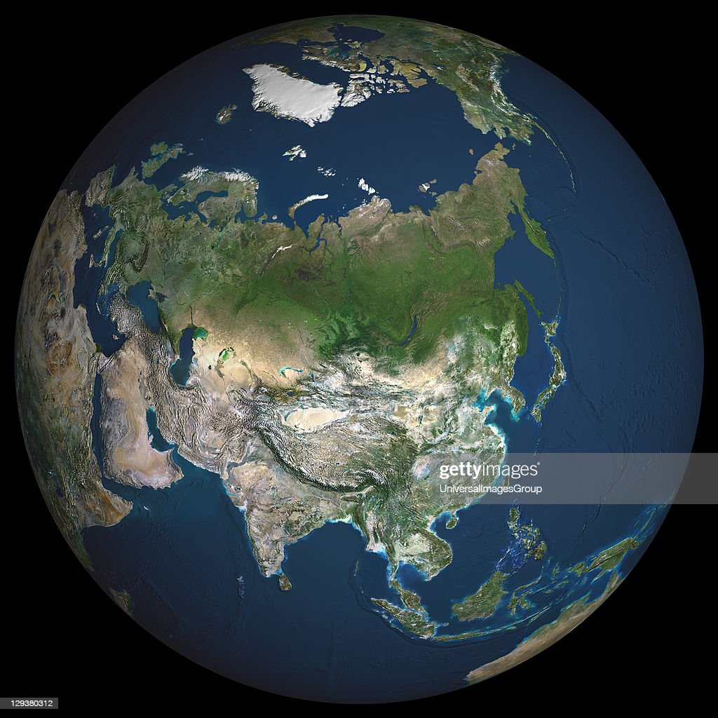 Globe Asia, True Colour Satellite Image : News Photo
