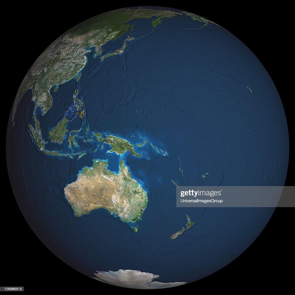 Globe Oceania, True Colour Satellite Image : News Photo